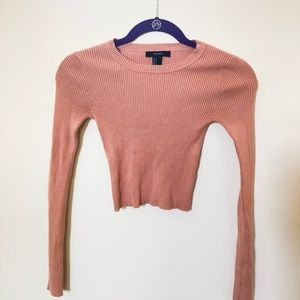 Long sleeve stretchy crop top